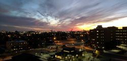 roof sunset